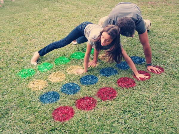 DIY Yard Twister | Labor Day Party Ideas