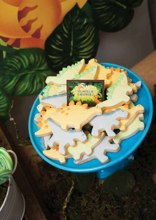 Dinosaur Cookies - Dinosaur Birthday Party Ideas
