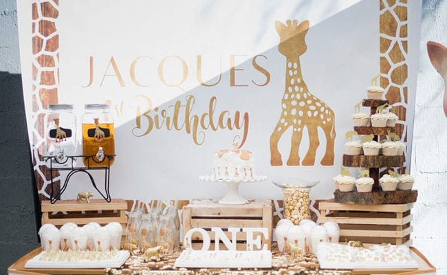 Sophie the Giraffe Inspired First Birthday Party