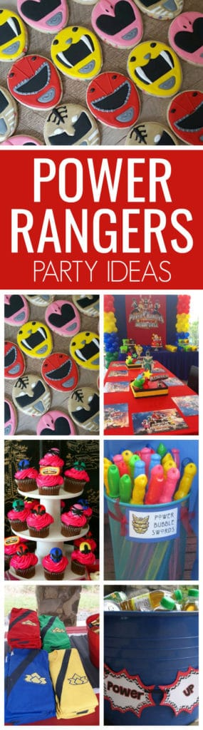 13 Power Rangers Party Ideas featured on Pretty My Party