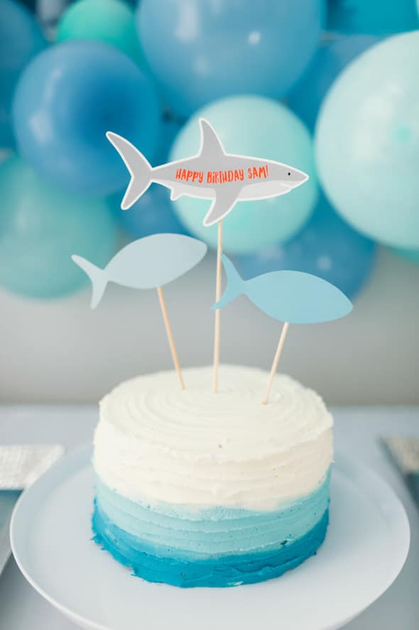 Jawsome Shark Themed Birthday Party featured on Pretty My Party