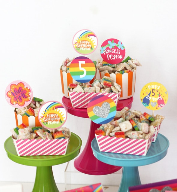Trolls Party Rainbow Puppy Chow