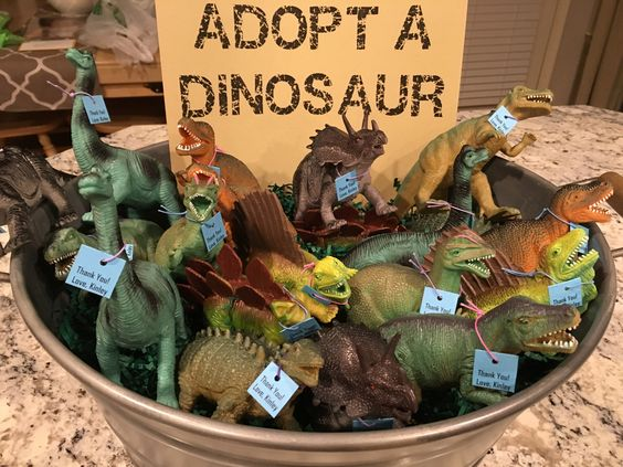 Adopt A Dinosaur Party Favor Idea