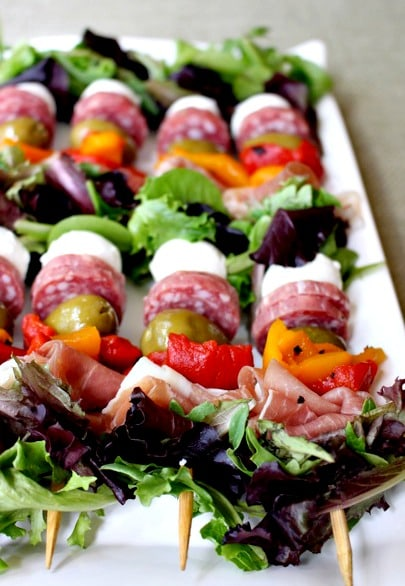 Antipasto Salad Kabobs | Labor Day Party Ideas