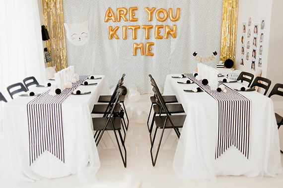 Cat Birthday Tables
