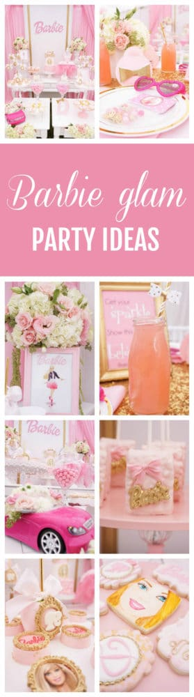Pink Barbie Glam Birthday Party featured on Pretty My Party