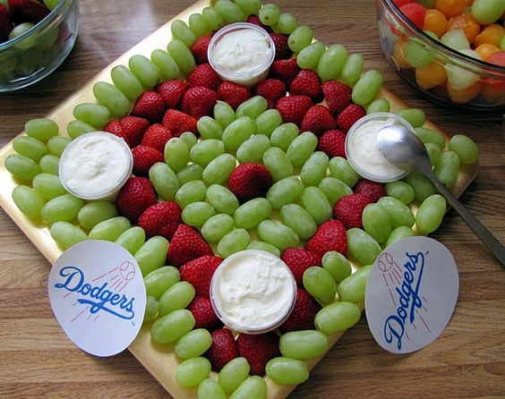 Baseball Diamond Fruit Platter | Baseball Party Ideas