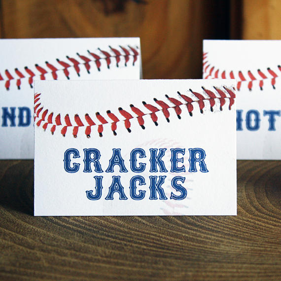 Baseball Food Labels | Baseball Party Ideas
