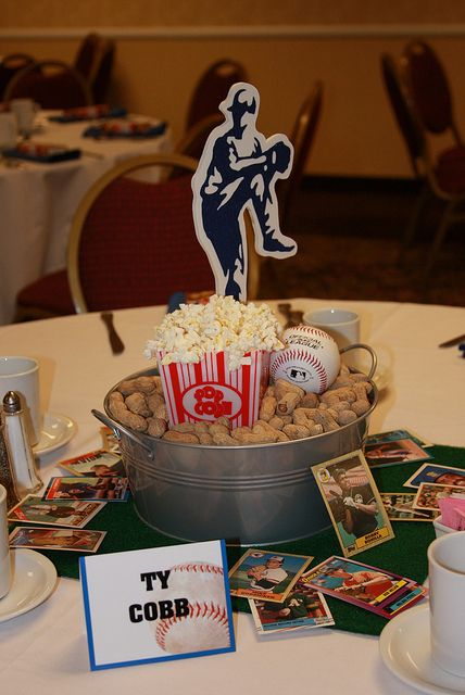 Baseball Party Table Centerpiece | Baseball Party Ideas