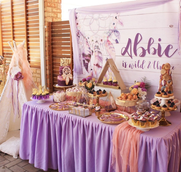 Boho Chic Party Dessert Table | Boho Chic Party Ideas