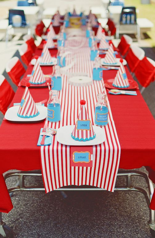 Carnival Party Table | Carnival Party Ideas