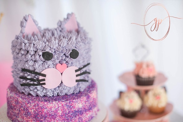 Glam Cat Birthday Cake