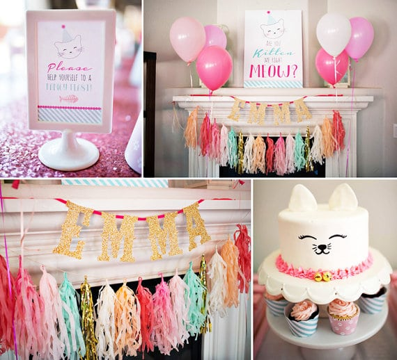 30 Cute Cat Birthday Party Ideas