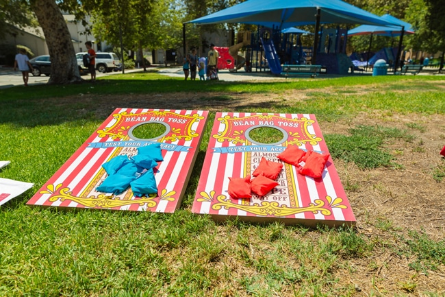 Whimsical Circus First Birthday Bean Bag Toss Game