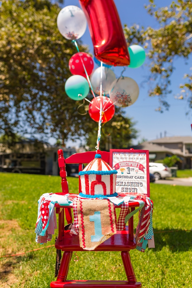 Whimsical Circus First Birthday Party High Chair