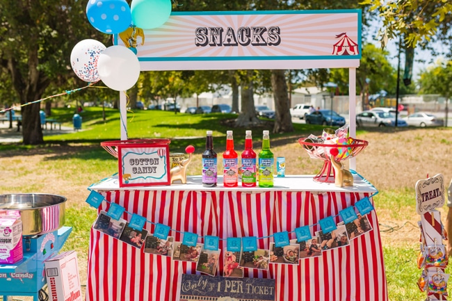 Whimsical Circus First Birthday Party Snacks