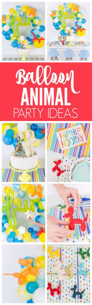 Colorful Balloon Animal Themed Party featured on Pretty My Party
