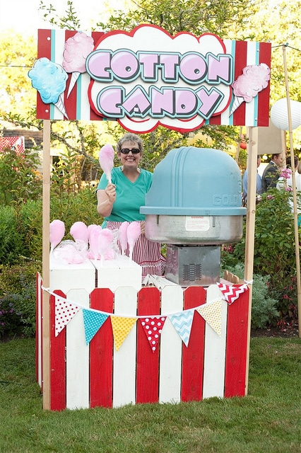 Cotton Candy Booth | Carnival Party Ideas
