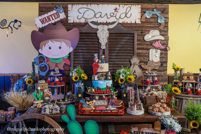 Amazing Cowboy First Birthday Party Dessert Table