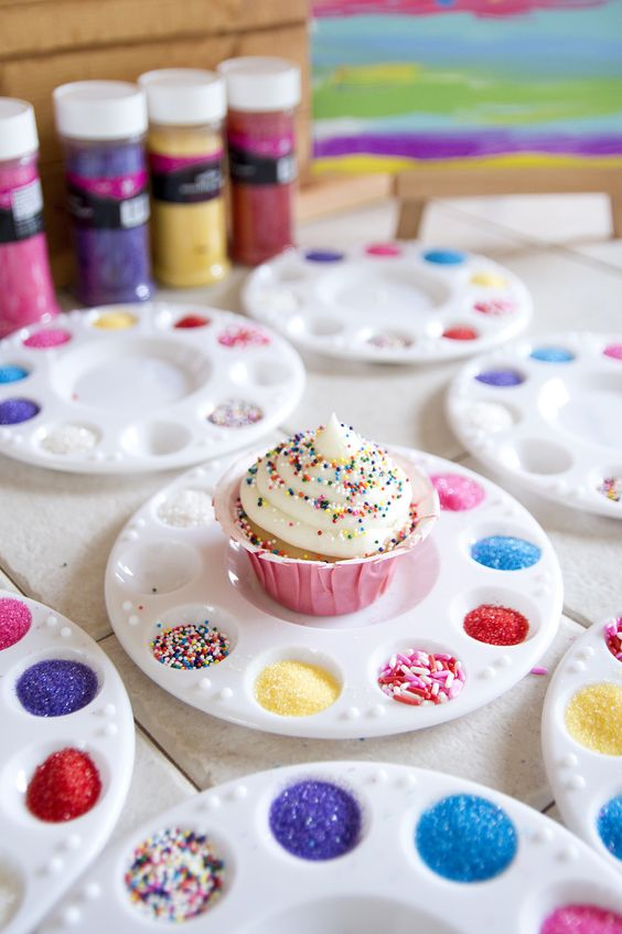 Little Artists Cupcake Decorating | Painting Birthday Party