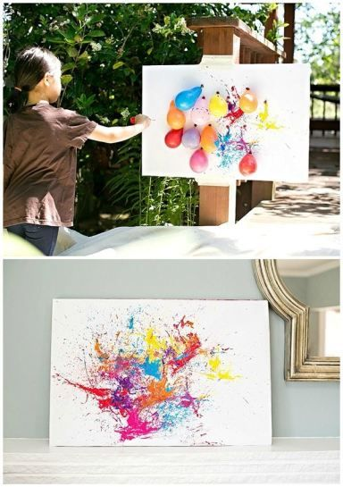 Dart Balloon Painting | Paint Party Ideas