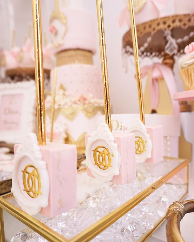 Diamonds And Dior Themed Birthday Party Pretty My Party