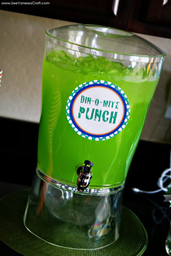Dino-Mite Party Punch - Dinosaur Party Ideas