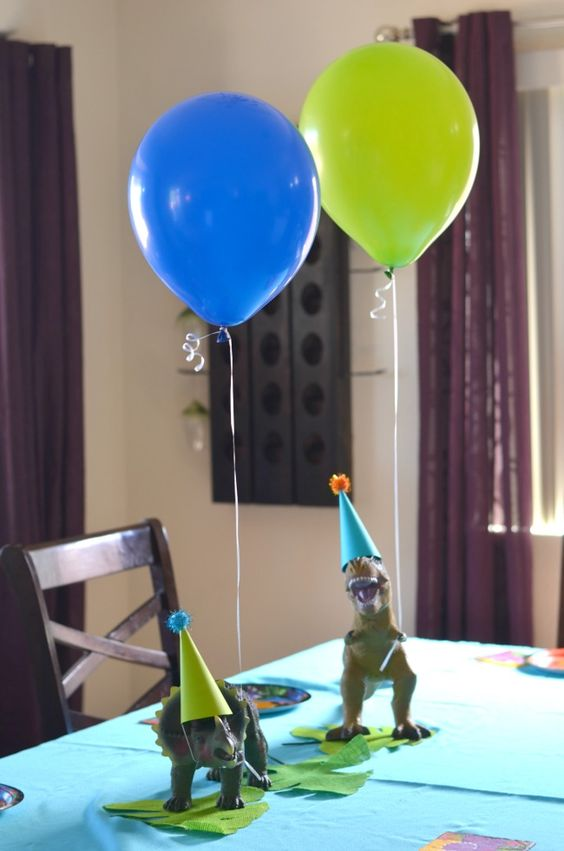Dinosaur Balloon Weights - Dinosaur Birthday Party