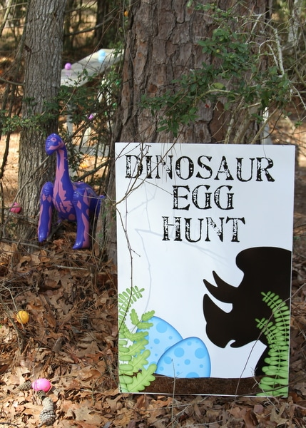 Dinosaur Egg Hunt Party Game - Dinosaur Birthday Party Ideas