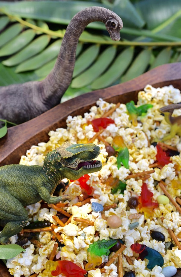 Dinosaur Party Snack Mix - Dinosaur Birthday Party