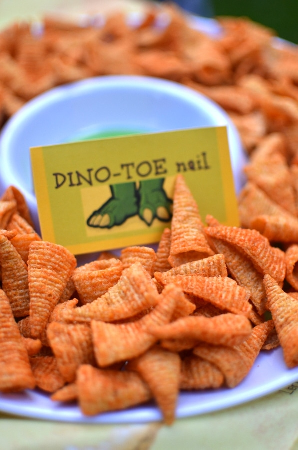 Dinosaur Toe Nail Party Snacks - Dinosaur Party Ideas