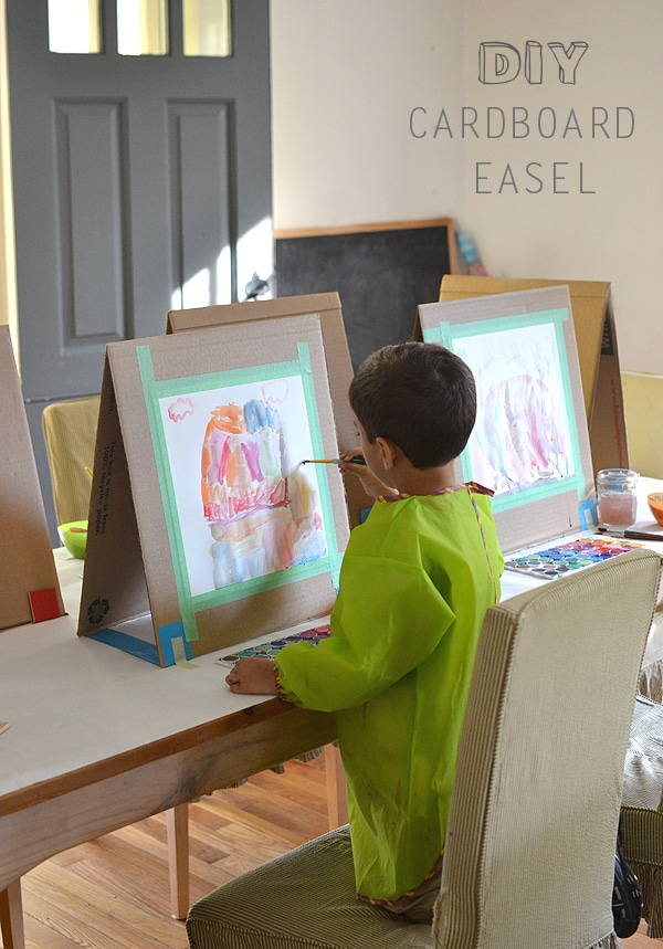 DIY Cardboard Easel | Art Party Ideas
