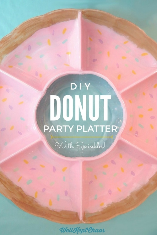 DIY Donut Party Plate | Donut Themed Party Ideas