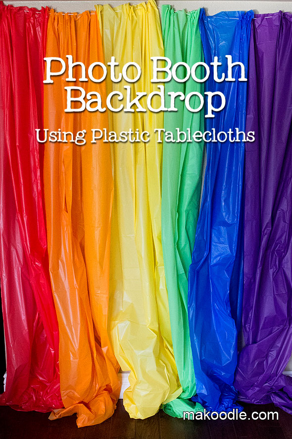 DIY Rainbow Photo Booth Backdrop | Rainbow Party Ideas