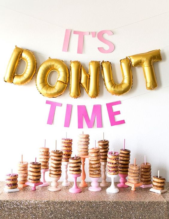 Donut Bar | Donut Themed Party Ideas
