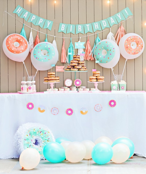 Donut Dessert Table | Donut Themed Party Ideas