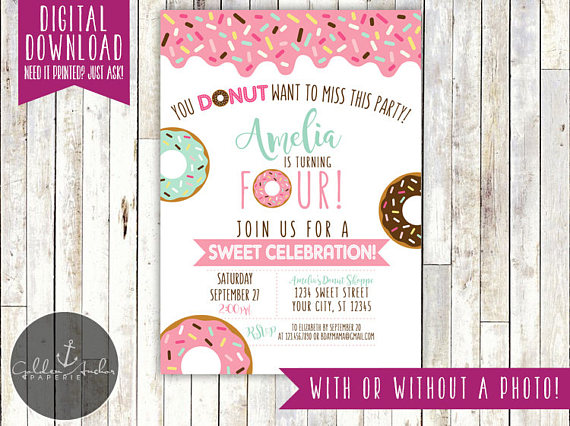 Donut Party Invitation | Donut Party Ideas