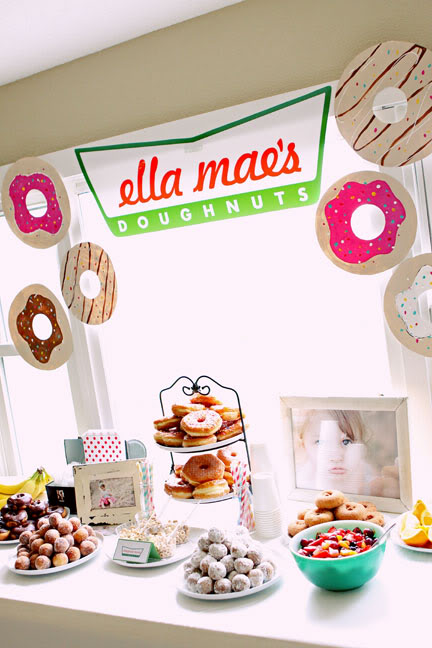 Donut Party Table | Donut Birthday Party Ideas