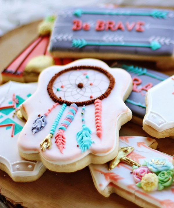 Boho Party Cookies - Boho Chic Party Ideas