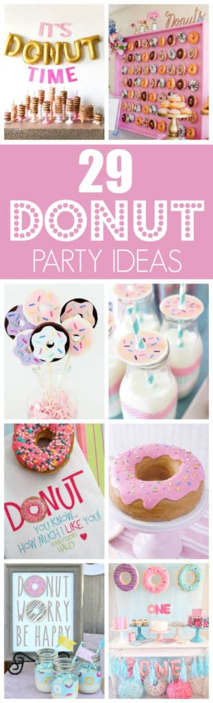 29 Fantastic Donut Party Ideas featured on Pretty My Party