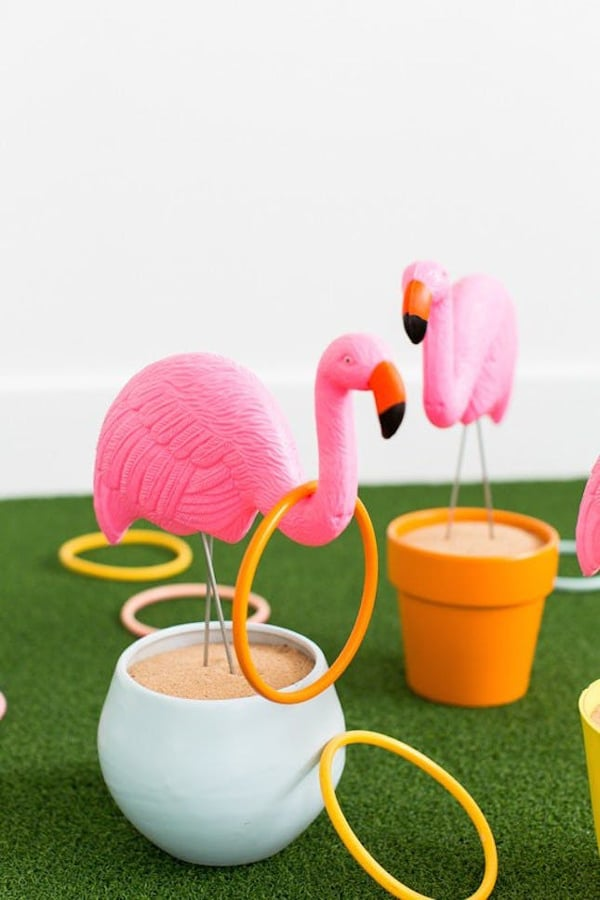 DIY Flamingo Ring Toss | Labor Day Party Ideas