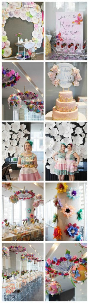 beautiful floral high tea bridal shower on pretty my party