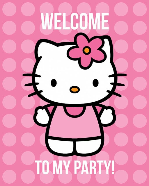 Free Hello Kitty Printable Party Sign | Hello Kitty Party Ideas
