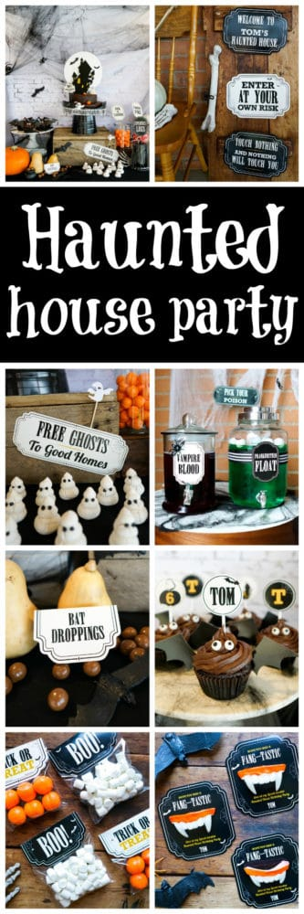 Spooky Haunted Halloween House Party featured on Pretty My Party