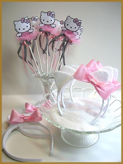 Hello Kitty Headband Favors | Hello Kitty Party Ideas