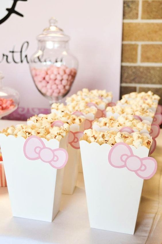 Hello Kitty Popcorn Boxes | Hello Kitty Party Ideas