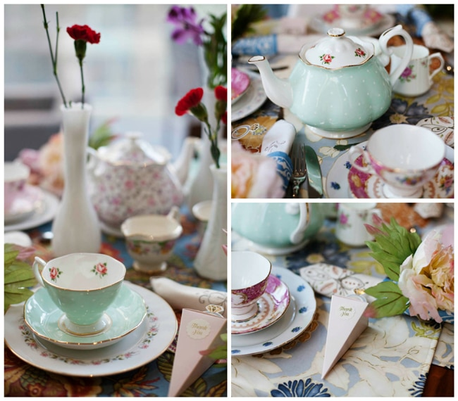 floral high tea bridal shower ideas