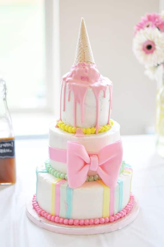 Ice Cream Themed Birthday Cake | Ice Cream Party Ideas