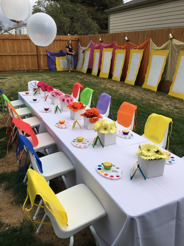 23 creative art themed party ideas paint party ideas pretty my party
