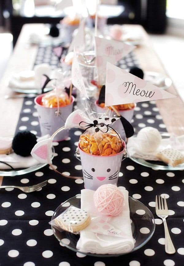 Kitty Cat Kids Party Table | Cat Party Ideas